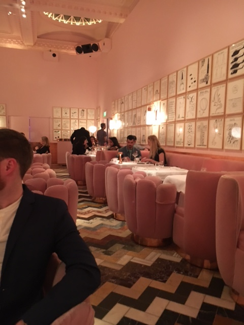 This isn't the most well composed shot at Sketch, but its because we were trying to get the 2 celebrities in the pictures, discretely! Look familiar? That's Joe Jonas and Sophie Turner (from GoT)!!! Incidentally, Sketch is super amazing and totally worth the splurge. The high tea (for which you absolutely 100% need reservations) runs you between $130-$200 per couple, but you can also stop in for a drink at the bar for much less. There are different rooms, each decorated with a different theme that serve different purposes. The Instagram famous pink room is for high tea.