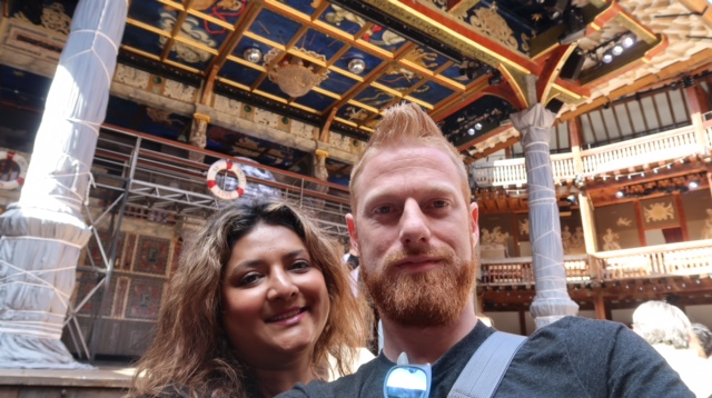 You may find this surprising about me, but I'm super into Shakespeare. We've tried to go to the Cleveland Shakespeare performances for the past few years and we get rained out each time. That said, the Shakespeare Globe was definitely one of the highlights of the trip for me (although spoiler alert, its not exactly at the same location as the original Globe). We didn't stay for a performance (couldn't get seated tickets) and I honestly didn't want to stand for 3.5+ hours for a full performance. Nonetheless, it was fun to nerd out and take lots of pictures for about an hour!