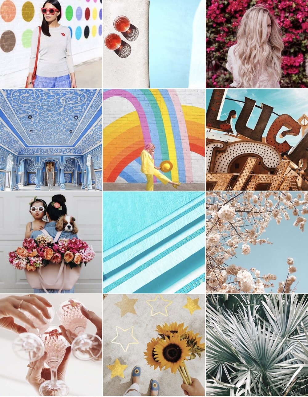 Instagram:  A Color Story  So this is also a great photo editing app, so it's only fitting that their feed is gorgeous and colorful