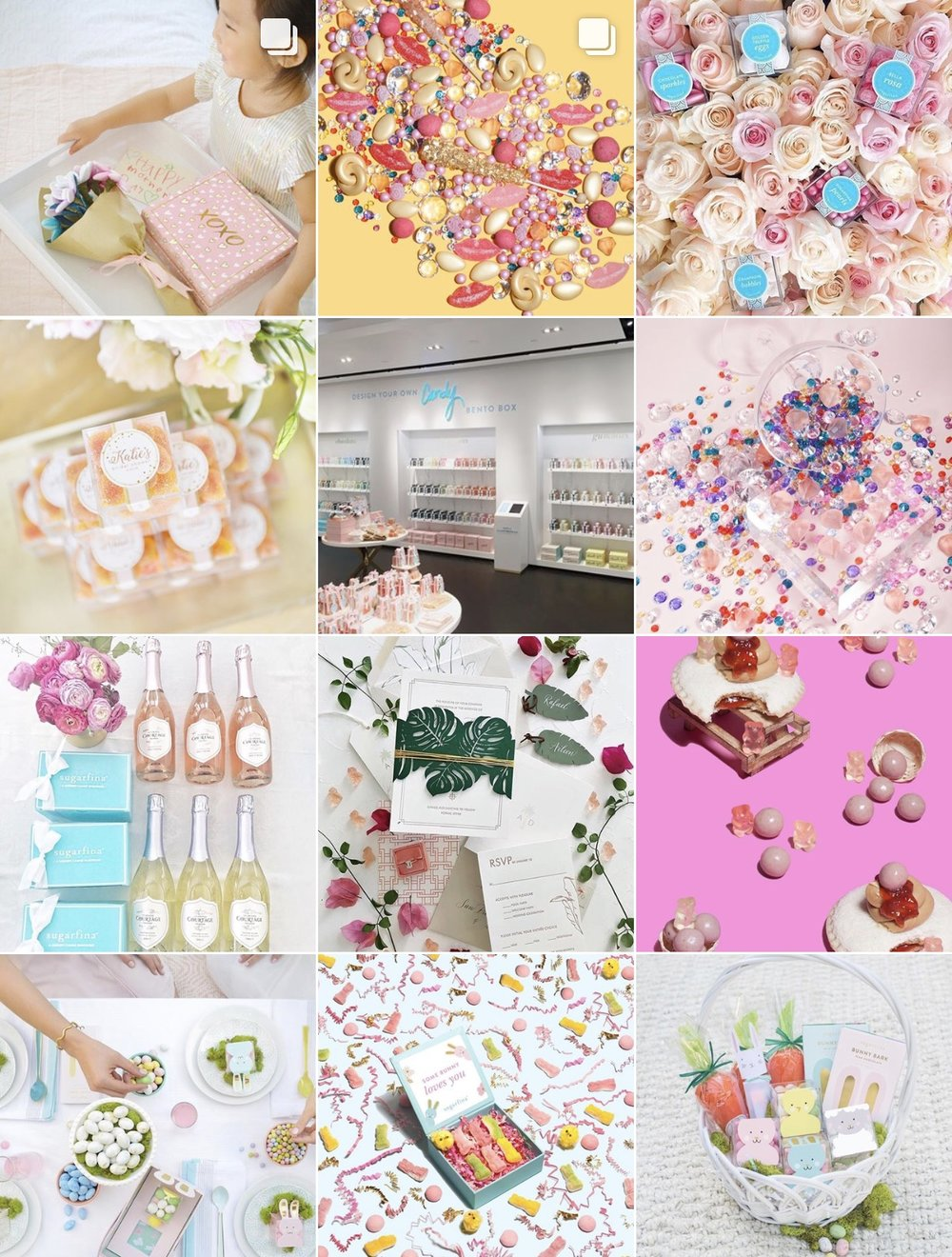 Instagram:  Sugarfina  Fun colorful candy - what could be sweeter?