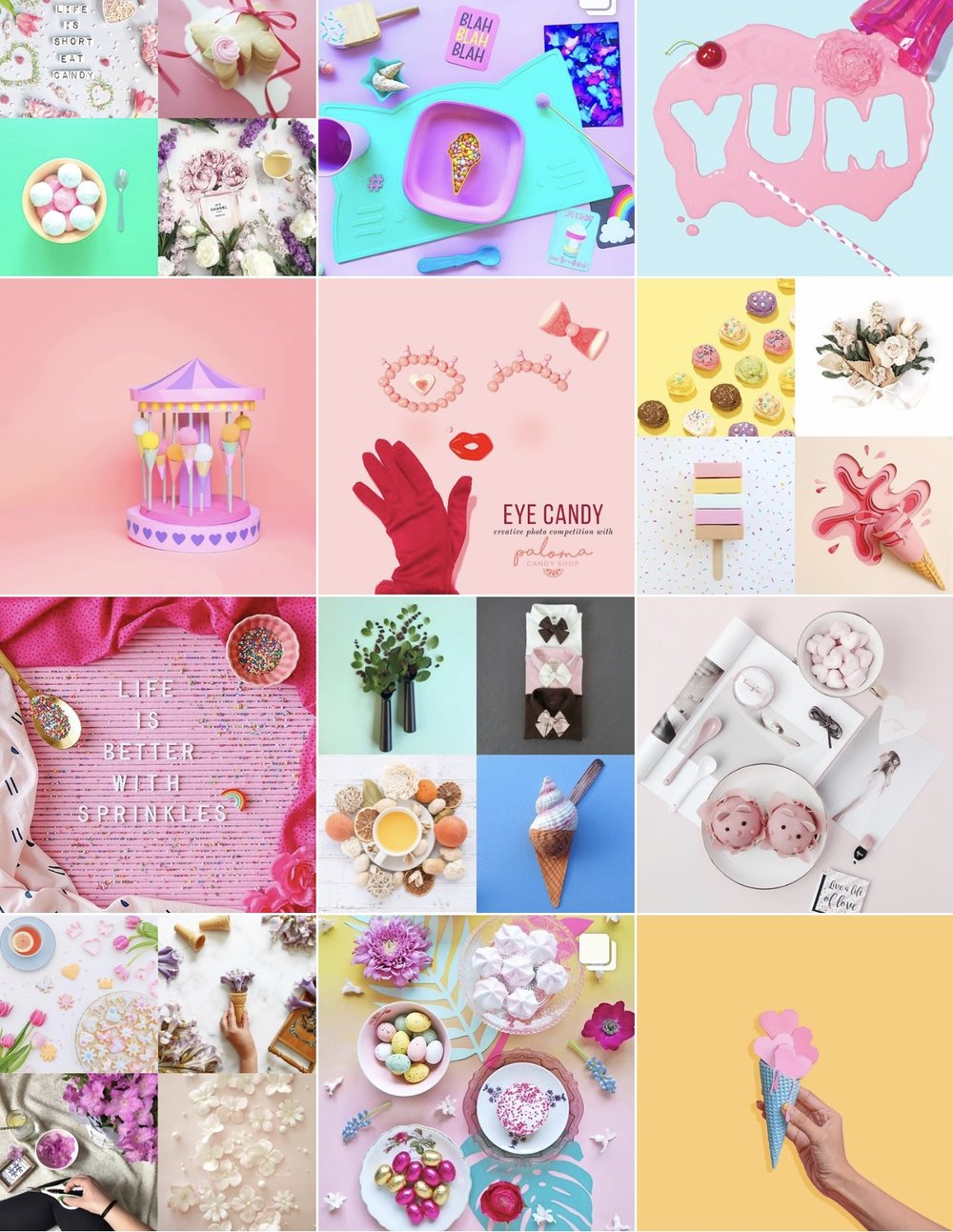 Instagram:  Creatively Squared.  This is another new-to-me account that i discovered via Amy Shamblen's feed. Its basically non-stop colorful inspiration -- people are so amazing and creative!