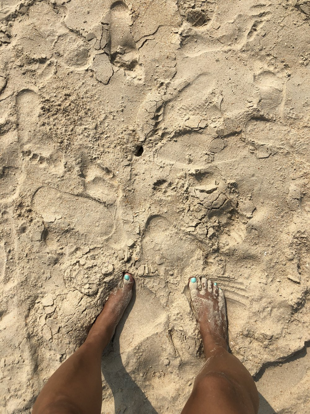 Toes in the sand Cleveland ohio beach lake erie