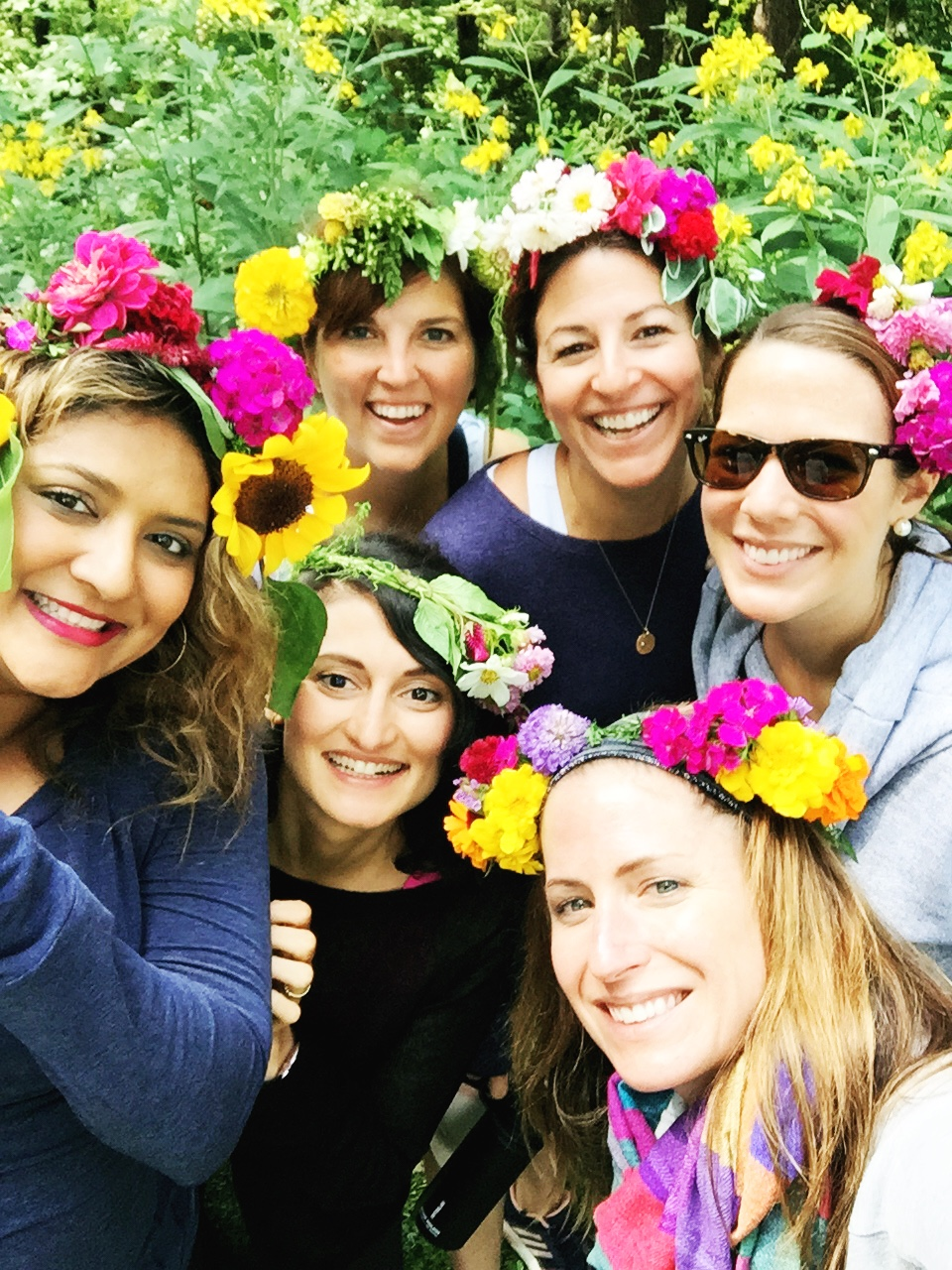 Flower crowns outdoor yoga spice acres farms cleveland ohio