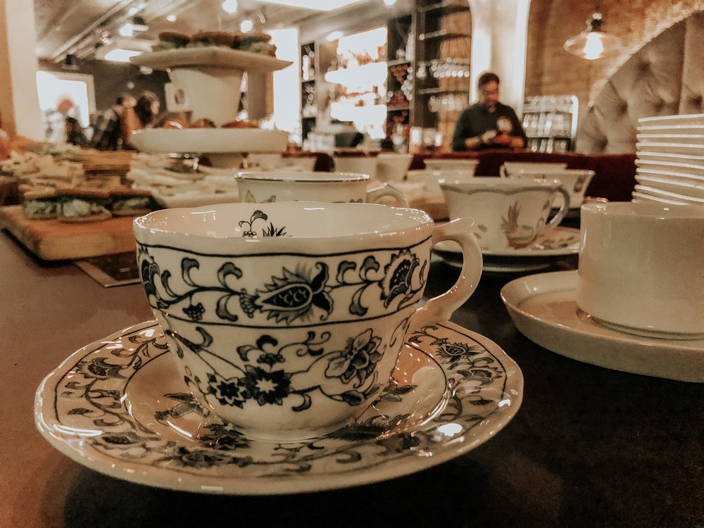 Vintage tea cups are a great addition to a tea service. Flea markets, thrift shops and resale stores are great places to build a collection. Don't worry about a matching set - mismatched cups and saucers are fun and unique.