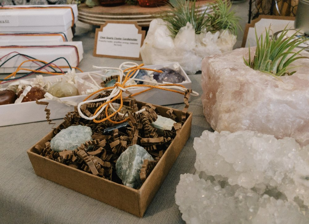 Self-care gifts for your woo-woo friend: crystal kits!