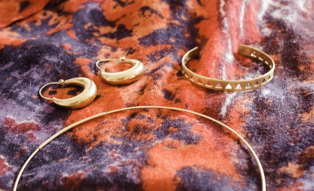 Capsule ONE: earrings, bracelet and necklace curated to be worn individually or together