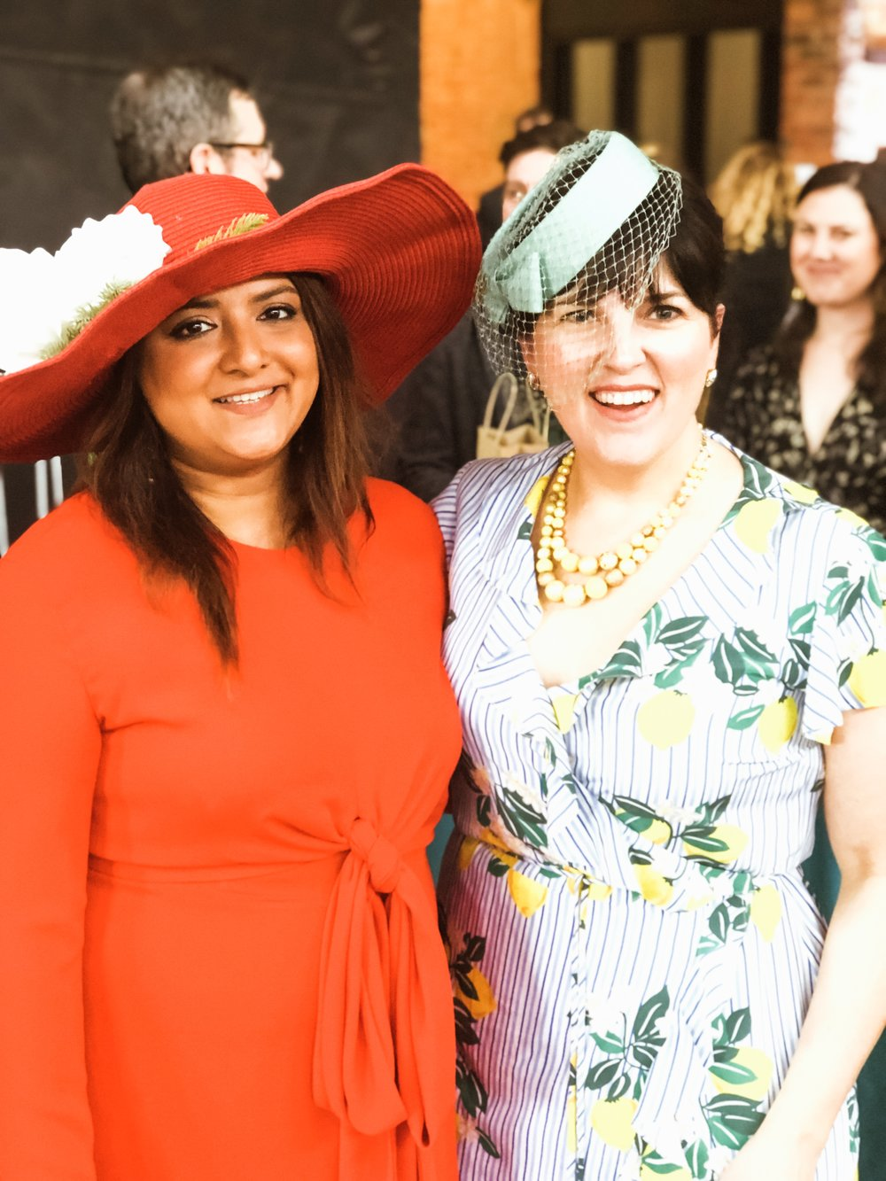 Love my friend  Charity's  dress and vintage hat! Her company  Studio Chartreuse  was one of the sponsors for the event.