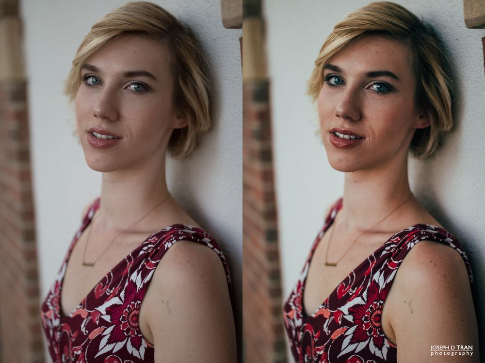 SOOC (Left) versus VSCO color grading (Right)