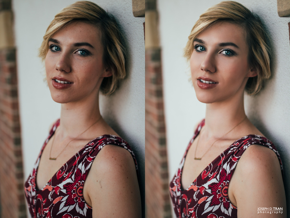 VSCO color graded image (Left) versus Full Retouched image (Right)