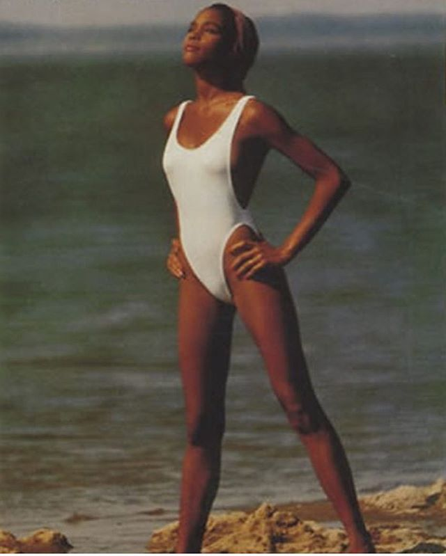 Whitney🙌🏾 #inspo #whitneyhouston #lookingforthesummer #style #whitebathingsuit
