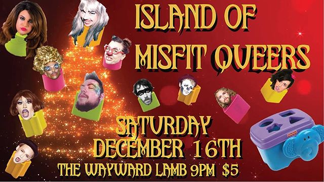 Tonight's the night!  Club Couture: Island of Misfit Queers. @thewaywardlamb 9PM. Time to party and get weird!!! . . . #ClubCouture #TheFarceFamily #TheWaywardLamb #TheDenEugene #lgbtq #queer #party #dwntwneugene #eugeneoregon #eugenenightlife #allarewelcome