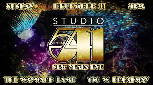 Tonight! The New Year is only hours away. Where else would you be but @thewaywardlamb partying with us at Studio 541? See you there! The Wayward Lamb opens at 6PM. Doors to The Den at 9PM. $8. Music by DJ Sassy Mouff. Hosted by Monique La Faye. Guest appearances by The Farce Family! . . #studio541 #thewaywardlamb #thedeneugene #partytime #happynewyear2018 #poppinbottles #djsassymouff #moniquelafaye  #TheFarceFamily  #lgbtq #allarewelcome #🎉🎊🎉