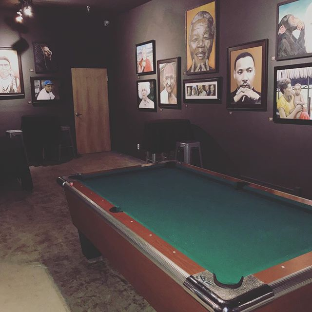 Simon Graves @thewaywardlamb portraits on display all night. Come play some pool and admire. . . #simongraves #thewaywardlamb #thedenannex #thedeneugene #art #love #queer #lgbtq #lanecountyarts #lanecounty #dwntwneugene #eugeneoregon