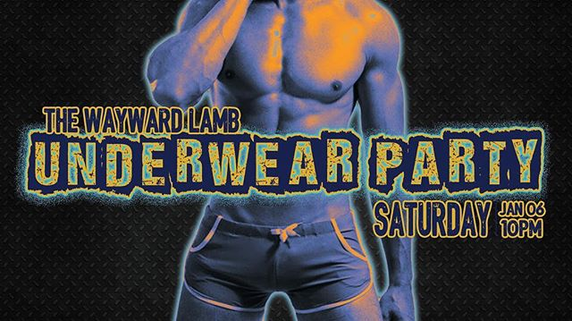 First underwear Party of 2018 only @thewaywardlamb No Cover/$2 Clothes Check. Dj Sassy Mouff. Party! Doors:10PM . . #underwearparty #thewaywardlamb #lgbtq #foreverybody #nocovercharge #pantsoffdanceoff #dwntwneugene #eugenenightlife