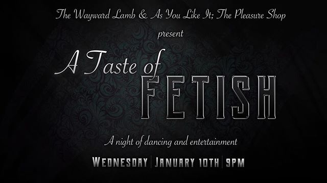 Tonight. A Taste of Fetish @thewaywardlamb in partnership with @asyoulikeit.shop we're bringing you a night of dancing, entertainment, demonstrations and performances. Come and explore and make some new friends in a safe and consensual space. For more details about this event. Please see our Facebook event page. Doors are at 9PM /Cover is $5. . . . #atasteoffetish #thewaywardlamb #asyoulikeitshop #thedeneugene #kink  #kinky #fetish #lgbtq  #queer #allarewelcome #consent #dwntwneugene #eugeneoregon #eugenenightlife
