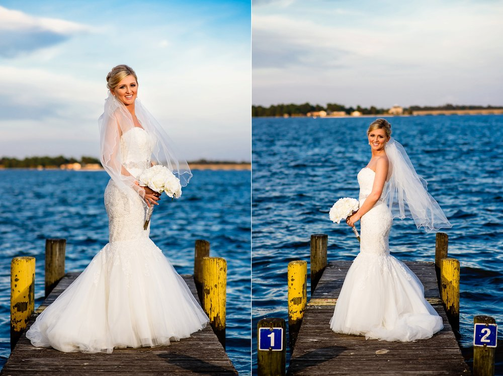 Lindsay's gorgeous bridal portraits in downtown New Bern, NC by Eastern NC Wedding Photographer