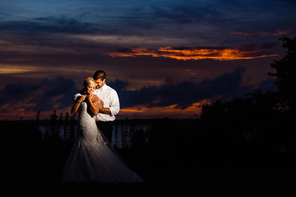 Eastern NC Sunset Wedding, Crystal Coast Country Club, Chad Winstead Photography