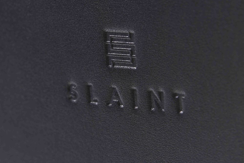 Slaint Logo in Leather