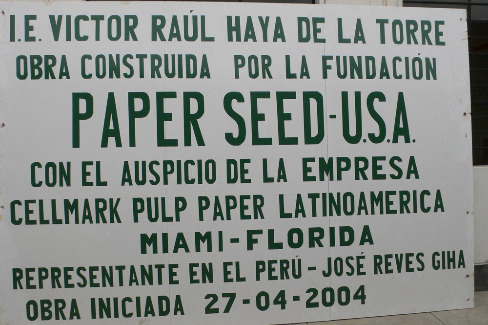Peru PaperSeed Sign