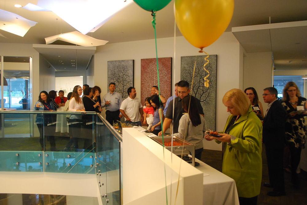 Guests enjoying local fare at the Midsummer Mixer