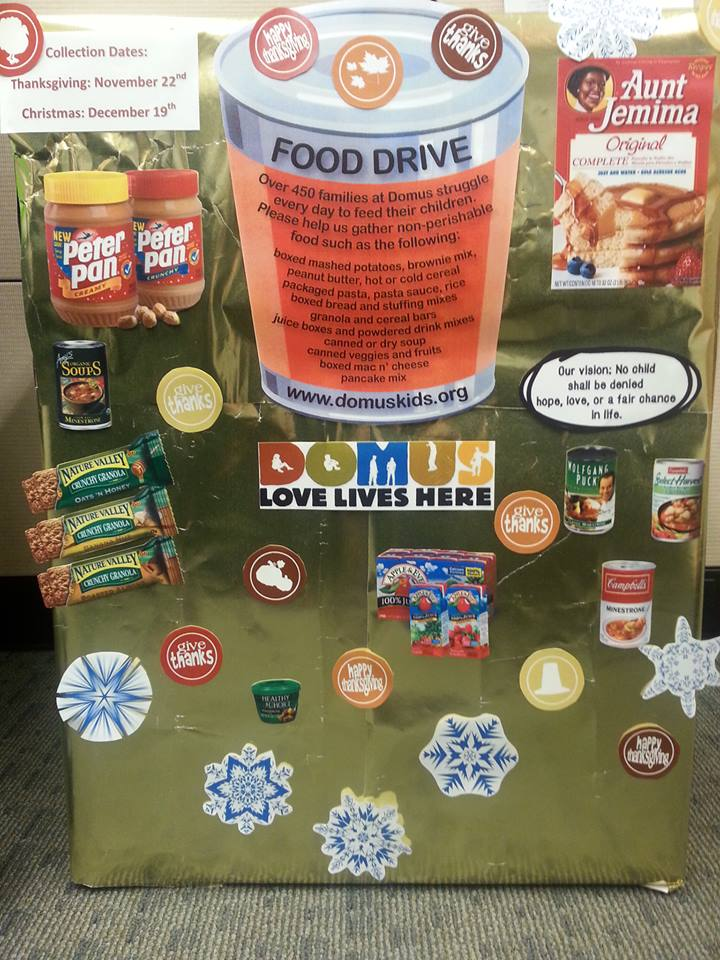 Canned food drive for DOMUS