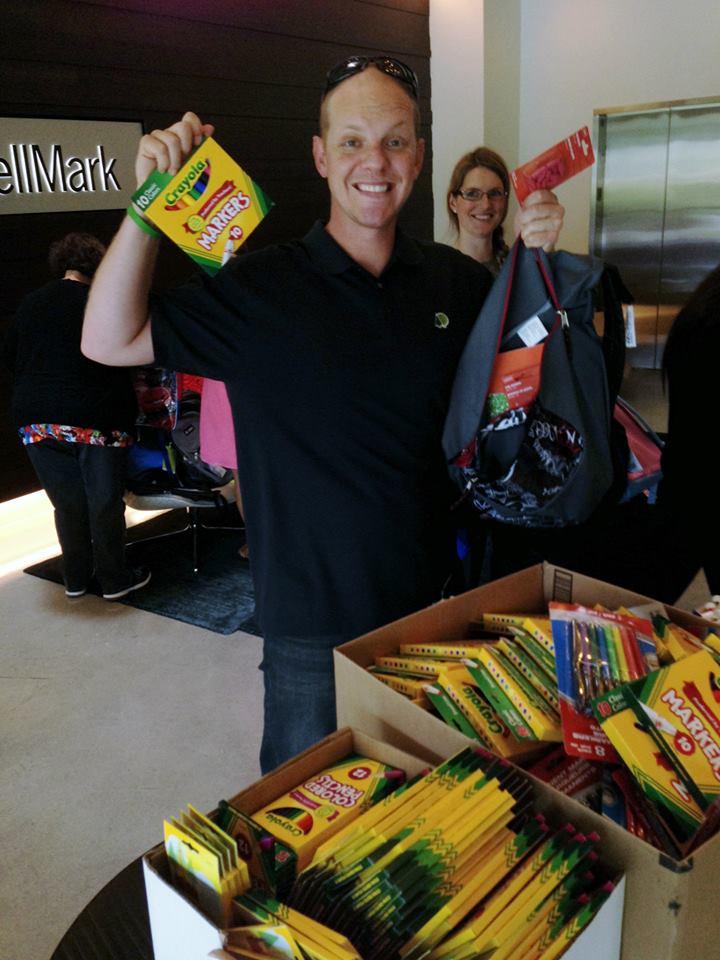 Gathering school supplies