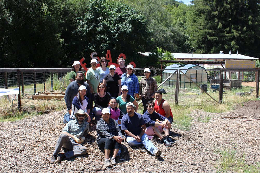 The team poses for a photo for PaperSeed Day 2016 at the Fairfax-San Anselmo Children's Center