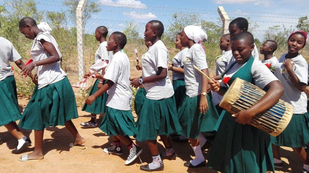 300 Sega School students march for their rights in tanzania