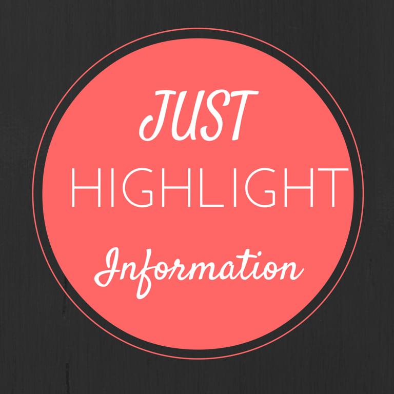 Just Highlight Information