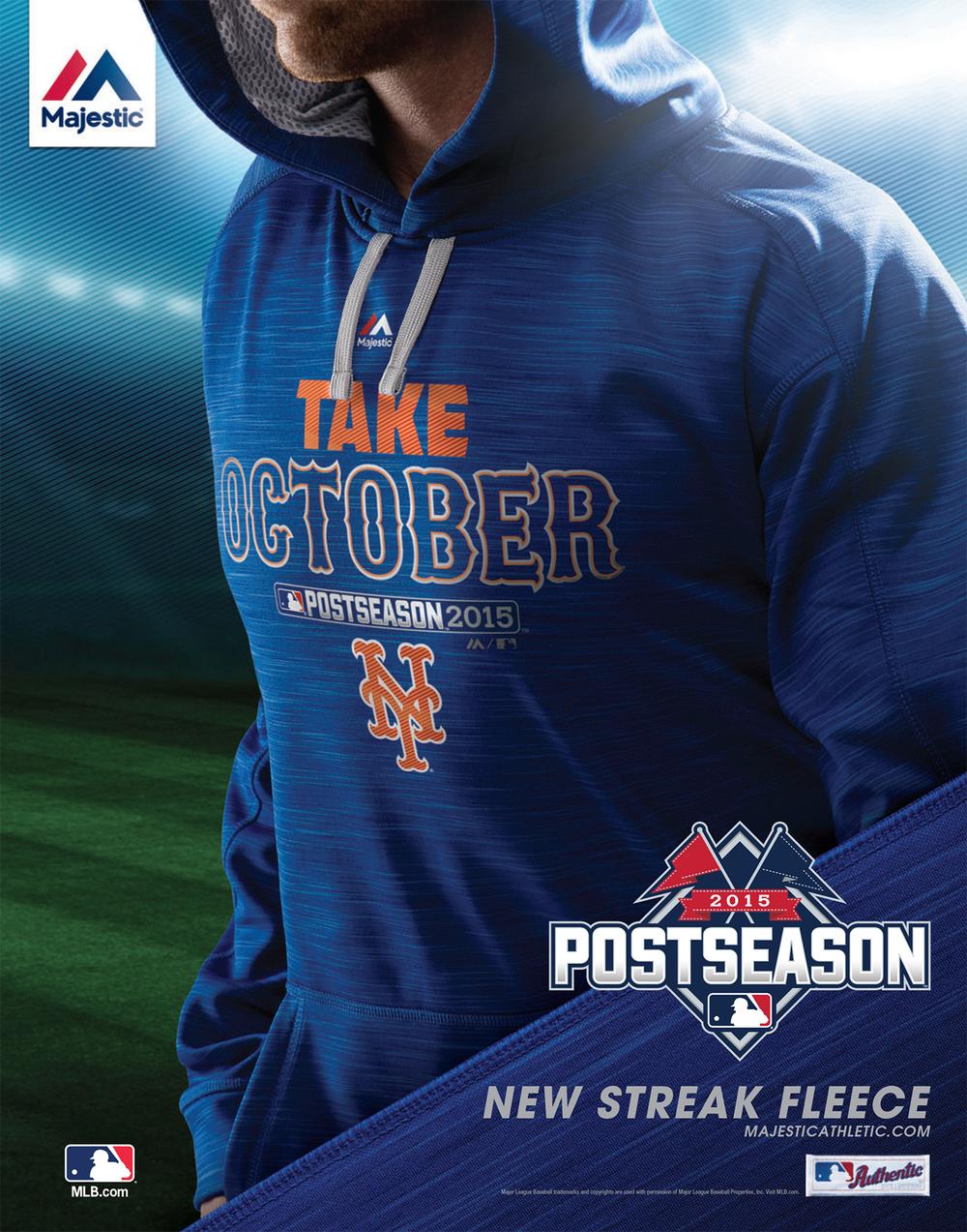 Majestic Post Season Hoodie - Mets
