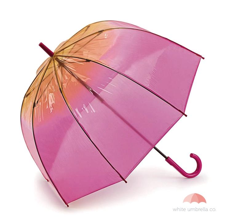 Fulton Pink and Peach Ombre Birdcage Umbrella