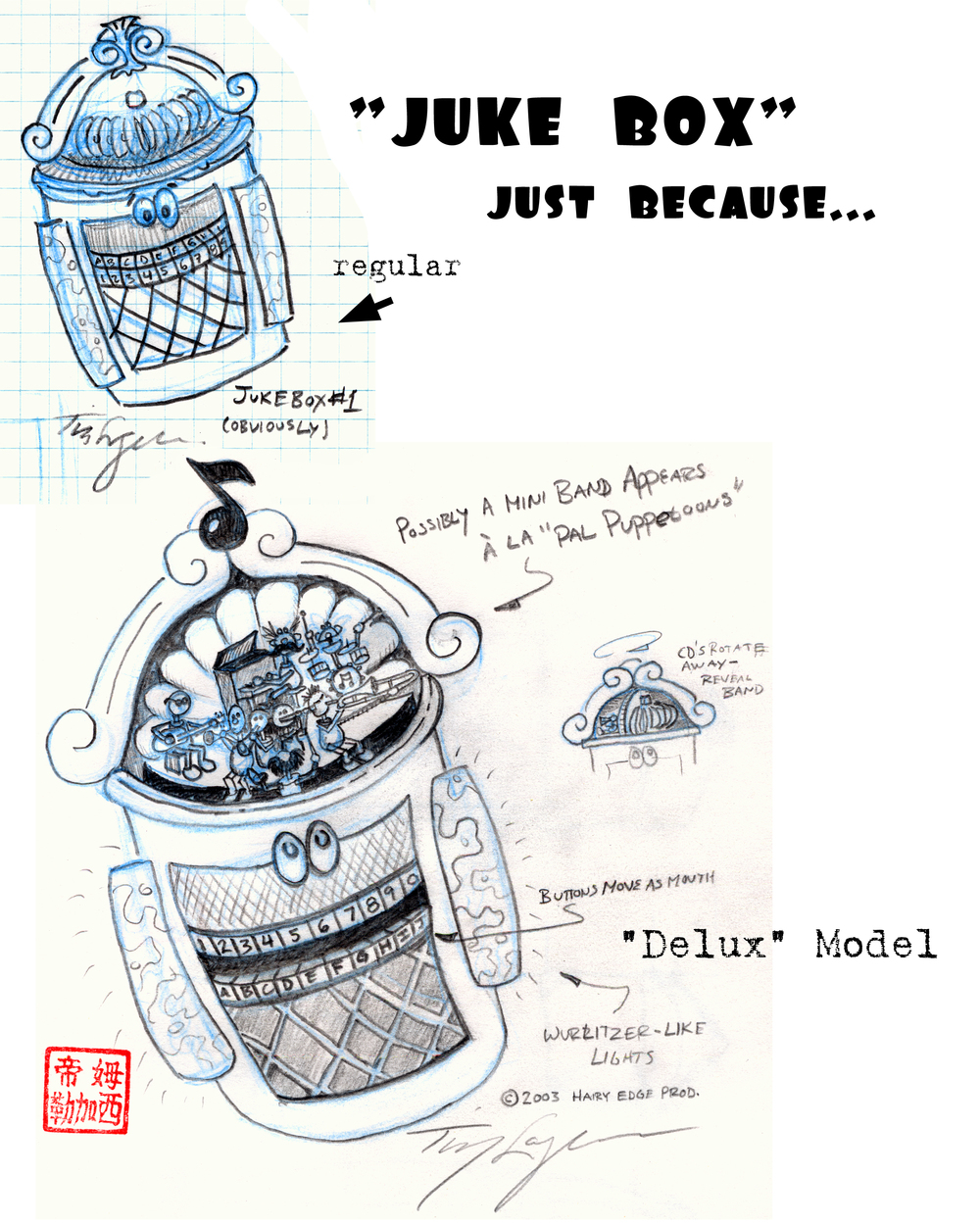 Juke Box concept design.