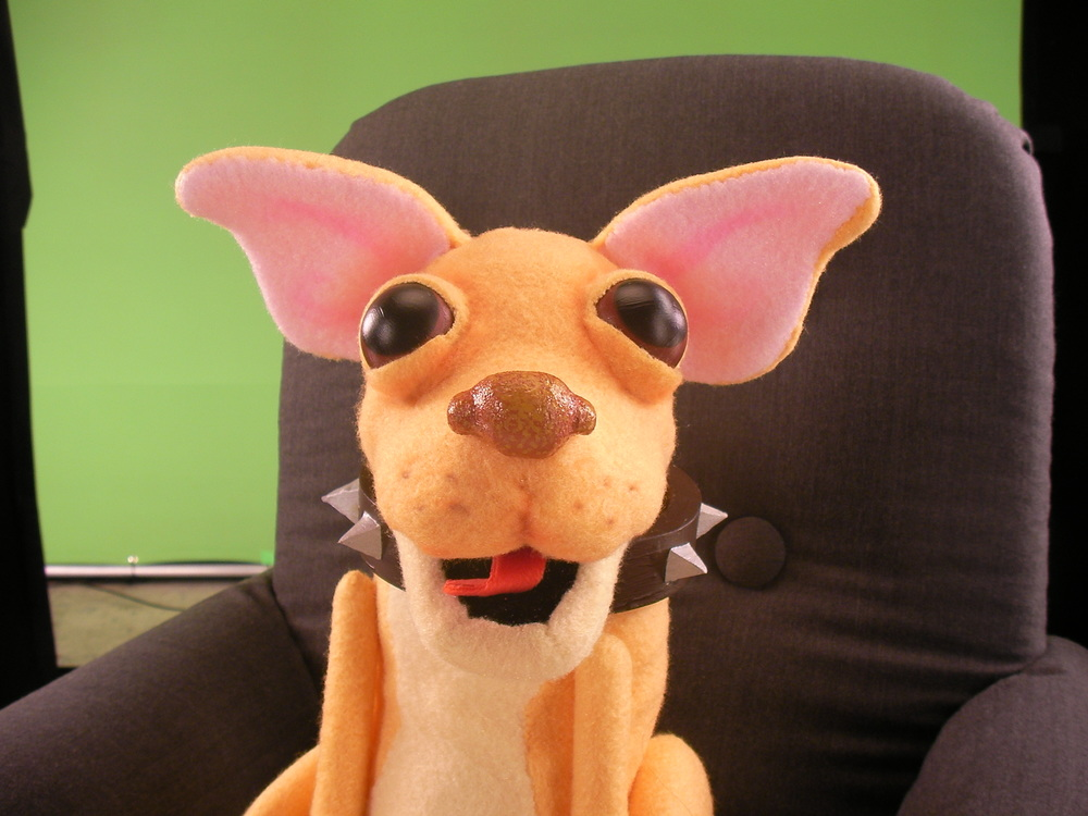 I loved making this dog puppet!