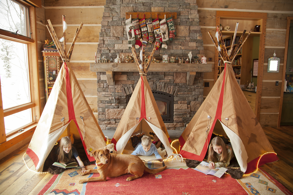 Tatanka Tipi - They each get their own (the middle tipi has been redesigned and is now as tall as the others)