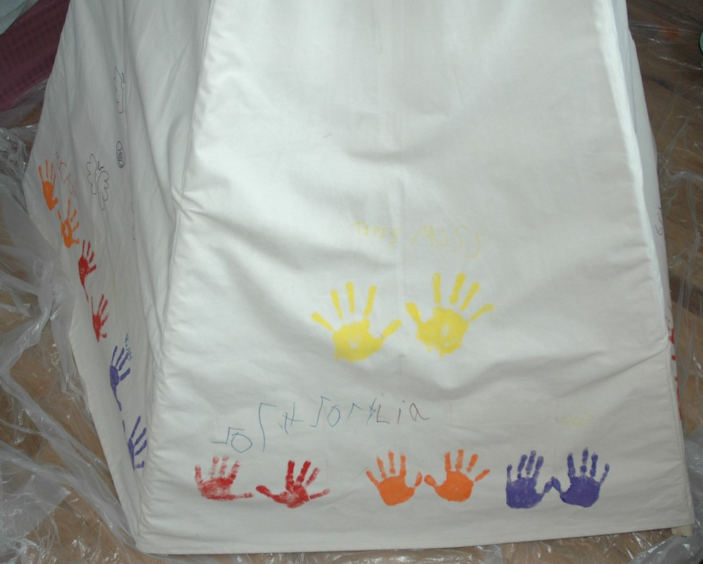 handprints from birthday party