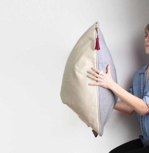 Housse à coussin de sol, tête de lit, coussin géant tiguidou 25
