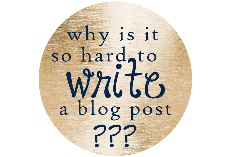 why is it so hard to write a blog post? The answer is here (but it's not pretty).