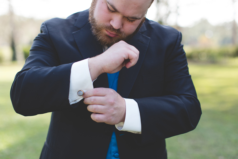 Outdoor Southern Wedding | groom waiting for his bride
