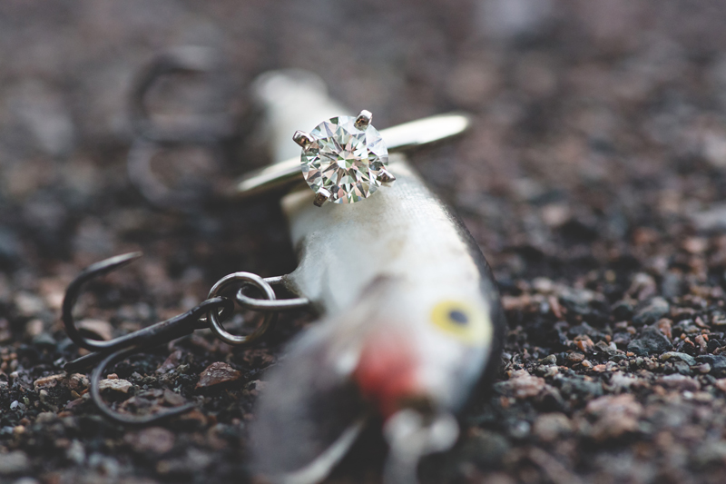 fishing lure engagement ring photo lakeland lake parker park engagement photos lakeland wedding photographer