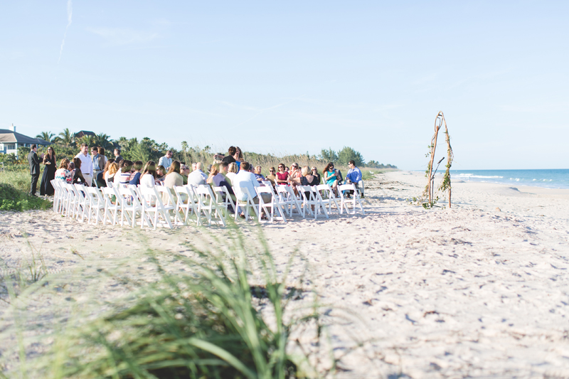 Beach Ceremony in Vero Beach - Beach Wedding Photos - destination Orlando wedding photographer - Jaime DiOrio