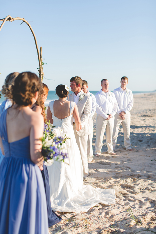 Bride and Groom saying vows - Beach Wedding Photos - destination Orlando wedding photographer - Jaime DiOrio