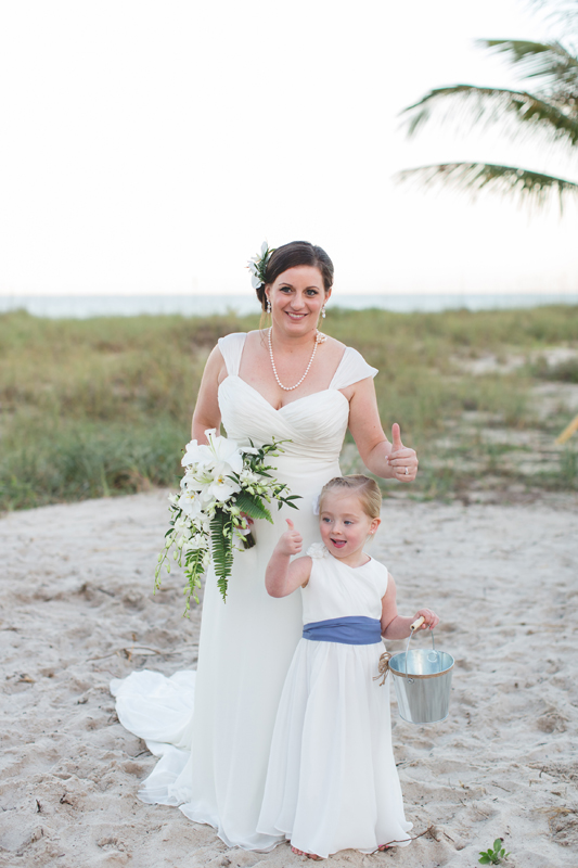 Bride and Flowergirl - Beach Wedding Photos - destination Orlando wedding photographer - Jaime DiOrio