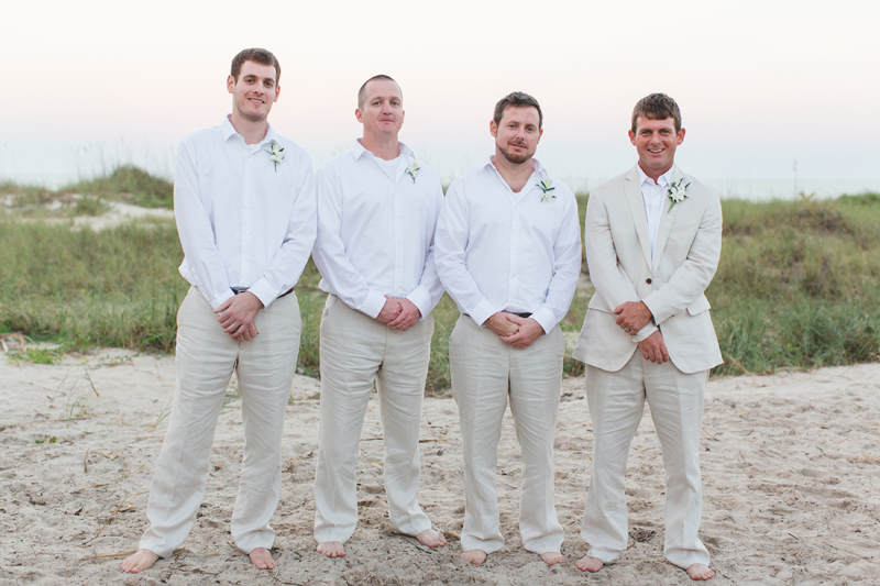 Groom with wedding party - Beach Wedding Photos - destination Orlando wedding photographer - Jaime DiOrio