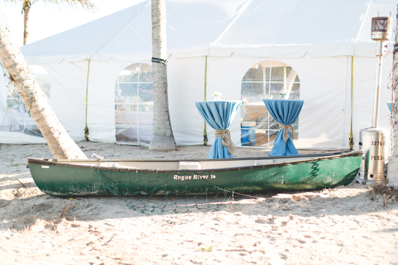 Canoe filled with drinks - Beach Wedding Photos - destination Orlando wedding photographer - Jaime DiOrio