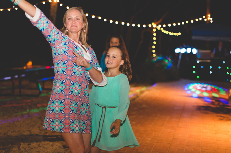 Guests dancing - Beach Wedding Photos - destination Orlando wedding photographer - Jaime DiOrio