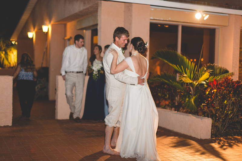 First Dance at reception - Beach Wedding Photos - destination Orlando wedding photographer - Jaime DiOrio