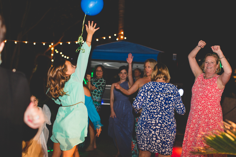 Guests on dance floor - Beach Wedding Photos - destination Orlando wedding photographer - Jaime DiOrio
