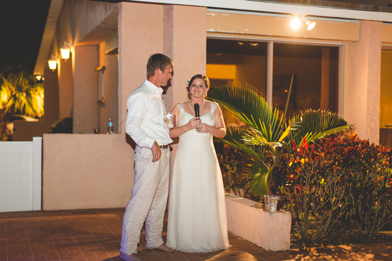 Bride Speech at wedding reception - Beach Wedding Photos - destination Orlando wedding photographer - Jaime DiOrio