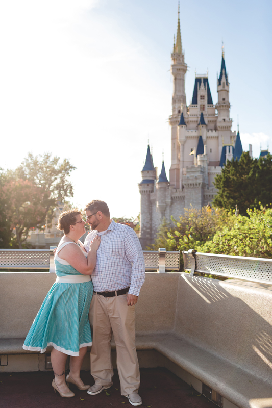 couple in front of castle - Jaime DiOrio Disney Photographer-Magic Kingdom photo shoot-Disney family session - family photos.jpg