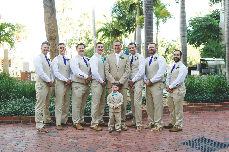 Groomsmen casual beach suit - Tradewinds Island Grand Resort beach wedding - st pete beach - Jaime DiOrio Photography - Destination Orlando wedding photographer -  (27).JPG